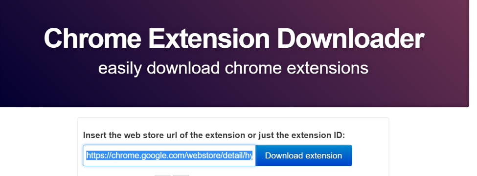 Step 1: Acquire the current Chrome extension