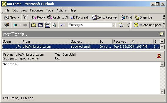 spoofed S/MIME, Outlook